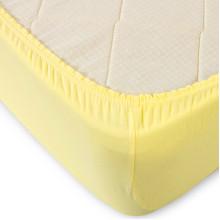 Простыня трикотаж на резинке Жёлтая
