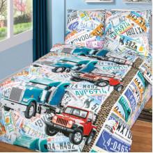 Комплект постельного белья детский Автобан