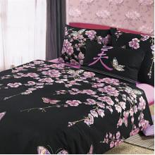 Комплект постельного белья Сакура Чёрная
