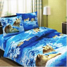 Комплект постельного белья Волки