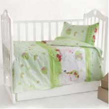 Постельное белье в детскую кроватку Мой ангелочек салатовый