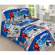 Комплект постельного белья детский Хоккей